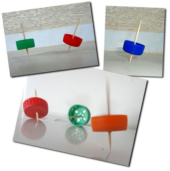 peão reciclável Brinquedos Reciclados